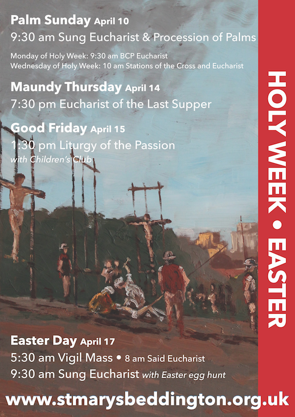 Holy Week and easter poster